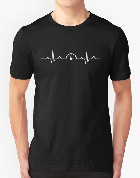 Car Speedometer Mechanic Heartbeat Shirt